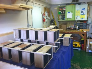 one section of the quarter million bee room.